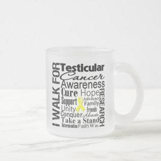 Testicular Cancer Awareness Walk 10 Oz Frosted Glass Coffee Mug