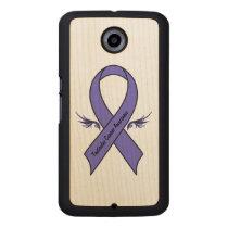 Testicular Cancer Awareness Wood Phone Case