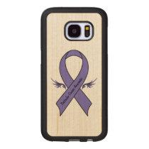 Testicular Cancer Awareness Wood Samsung Galaxy S7 Case