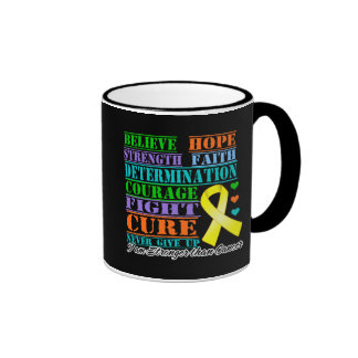 Testicular Cancer Believe Strength Determination Ringer Coffee Mug