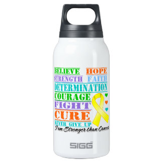 Testicular Cancer Believe Strength Determination 10 Oz Insulated SIGG Thermos Water Bottle