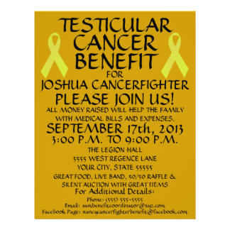Testicular Cancer Benefit Flyer