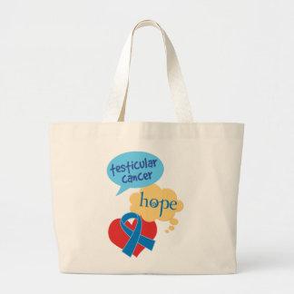 Testicular Cancer Blue Ribbon Large Tote Bag
