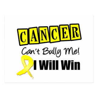 Testicular Cancer Cant Bully Me I Will Win Postcard