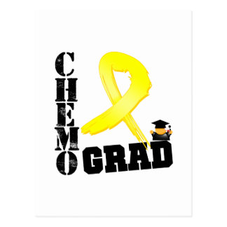 Testicular Cancer Chemo Grad Postcard