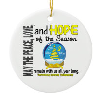 Testicular Cancer Christmas 3 Snow Globe Ornaments