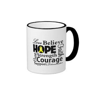 Testicular Cancer Collage of Hope Ringer Coffee Mug