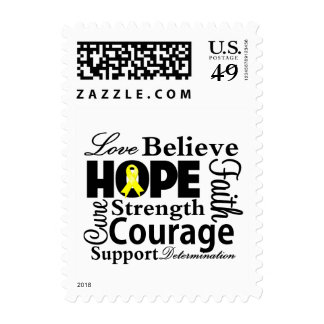 Testicular Cancer Collage of Hope Stamp