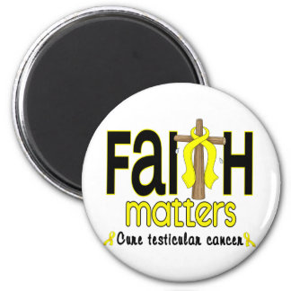 Testicular Cancer Faith Matters Cross 1 2 Inch Round Magnet