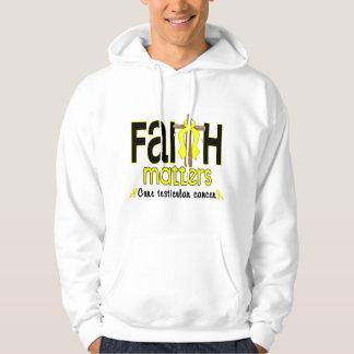Testicular Cancer Faith Matters Cross 1 Hoodie