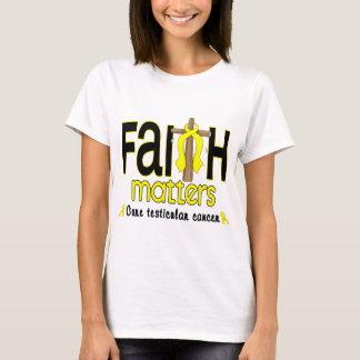 Testicular Cancer Faith Matters Cross 1 T-Shirt
