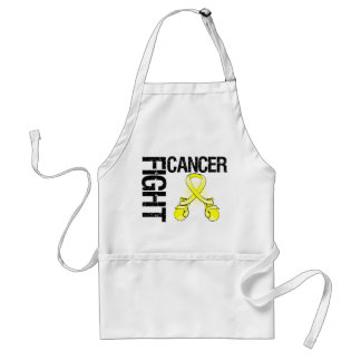 Testicular Cancer Fight Boxing Gloves Adult Apron