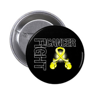 Testicular Cancer Fight Boxing Gloves Pinback Button