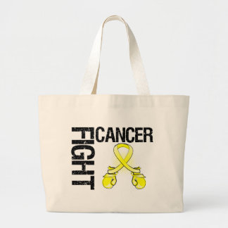Testicular Cancer Fight Boxing Gloves Canvas Bag