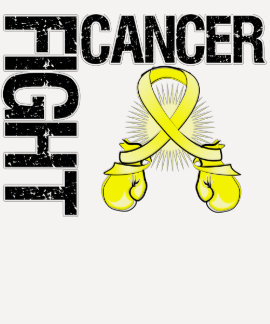 Testicular Cancer Fight Boxing Gloves Tee Shirt