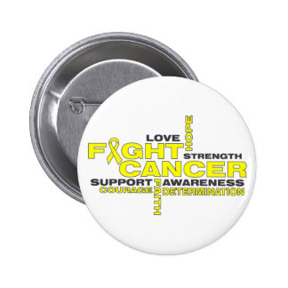 Testicular Cancer Fight Collage Button