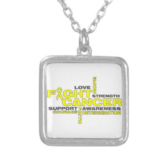 Testicular Cancer Fight Collage Necklace