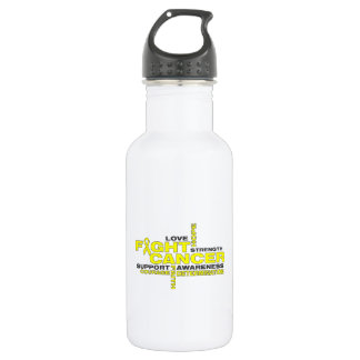 Testicular Cancer Fight Collage 18oz Water Bottle