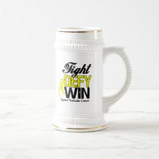 Testicular Cancer Fight Defy Win 18 Oz Beer Stein