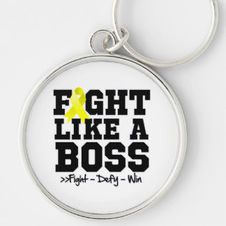 Testicular Cancer Fight Like a Boss Keychains