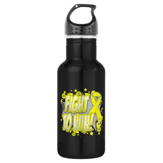 Testicular Cancer Fight To Win 18oz Water Bottle