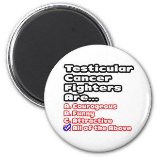 Testicular Cancer Fighter Quiz Magnet