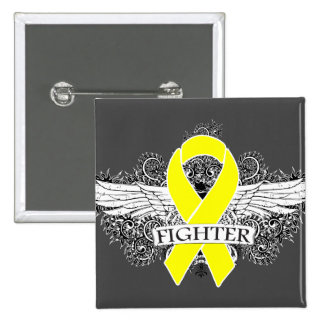 Testicular Cancer Fighter Wings v2 Pins