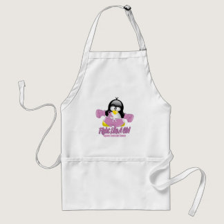 Testicular Cancer Fighting Penguin Adult Apron