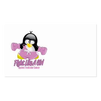 Testicular Cancer Fighting Penguin Business Card