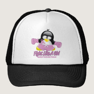 Testicular Cancer Fighting Penguin Trucker Hat