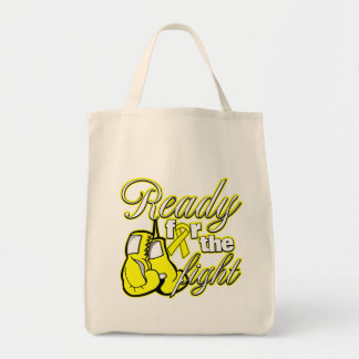 Testicular Cancer Gloves Ready For The Fight Grocery Tote Bag