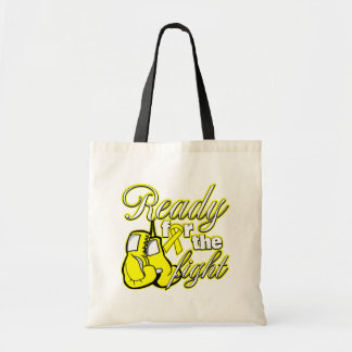 Testicular Cancer Gloves Ready For The Fight Budget Tote Bag