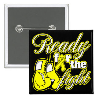 Testicular Cancer Gloves Ready For The Fight 2 Inch Square Button