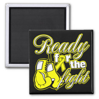 Testicular Cancer Gloves Ready For The Fight 2 Inch Square Magnet