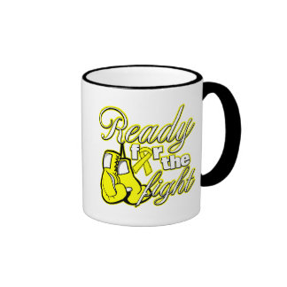 Testicular Cancer Gloves Ready For The Fight Ringer Coffee Mug