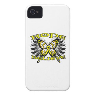 Testicular Cancer Hope Believe Butterfly Blackberry Bold Cover