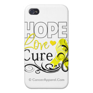 Testicular Cancer Hope Love Cure Case For iPhone 4