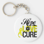 Testicular Cancer HOPE LOVE CURE Gifts Basic Round Button Keychain