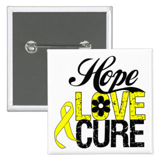 Testicular Cancer HOPE LOVE CURE Gifts Pinback Button