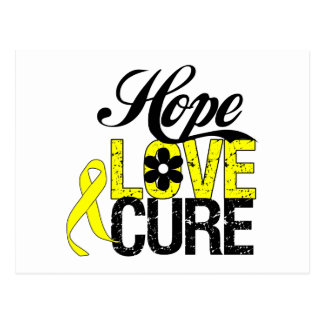 Testicular Cancer HOPE LOVE CURE Gifts Postcard