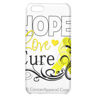 Testicular Cancer Hope Love Cure iPhone 5C Cases