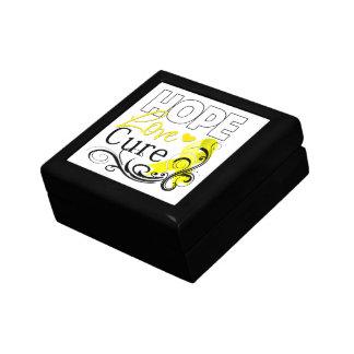 Testicular Cancer Hope Love Cure Keepsake Boxes