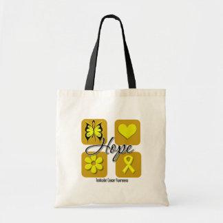 Testicular Cancer Hope Love Inspire Awareness Bags