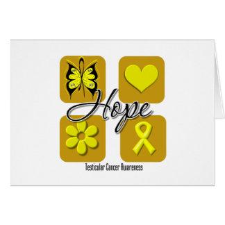 Testicular Cancer Hope Love Inspire Awareness Greeting Cards