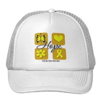 Testicular Cancer Hope Love Inspire Awareness Mesh Hats