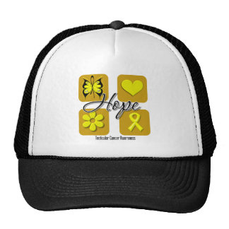 Testicular Cancer Hope Love Inspire Awareness Trucker Hat