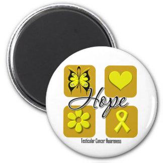 Testicular Cancer Hope Love Inspire Awareness Refrigerator Magnets