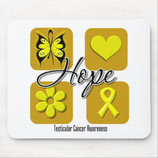 Testicular Cancer Hope Love Inspire Awareness Mouse Mats