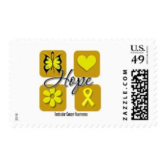 Testicular Cancer Hope Love Inspire Awareness Stamp