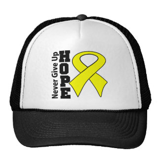 Testicular Cancer Hope Never Give Up Trucker Hat